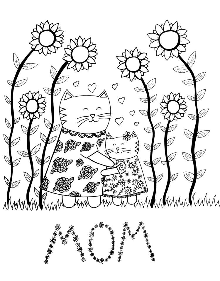 Love Mom (Happy Day!) | Rendere - carolinewillustration | ello