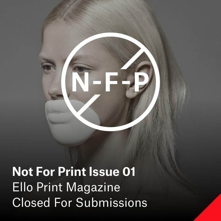 Print Issue 01 — Censorship Sub - elloartistinvites | ello