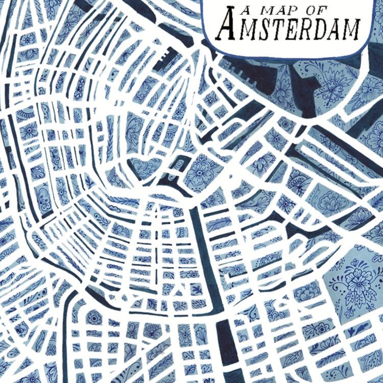 map Amsterdam negative space 'H - helencann   ello