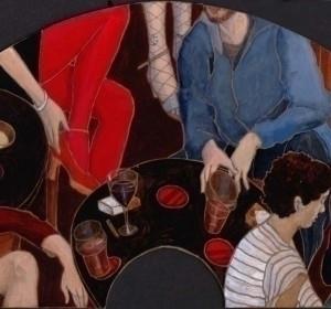 Part fan shaped painting varnis - helencann | ello