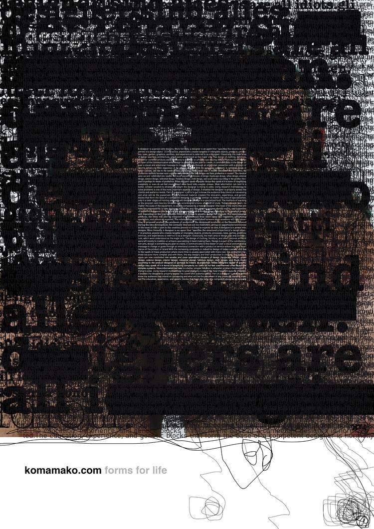 Komamako - Poster, Typography, Graphic - marcomariosimonetti | ello