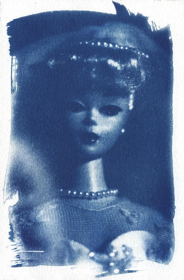 cyanotypes barbie references - art - megankoth   ello