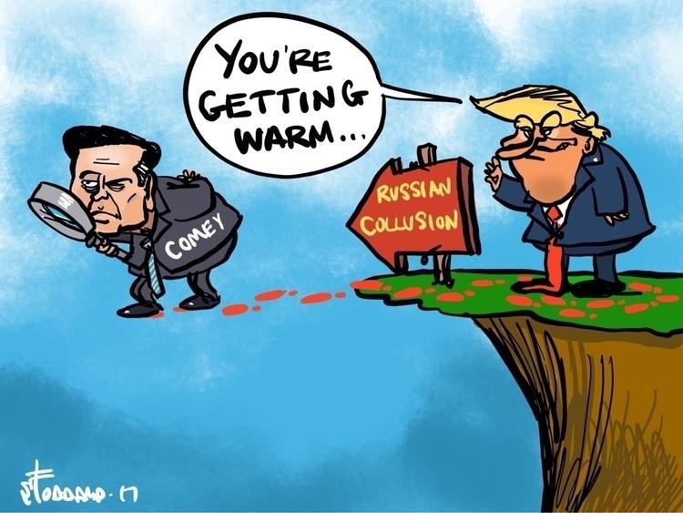 Cliff Hanger - illustration,, editorial, - sstoddard | ello