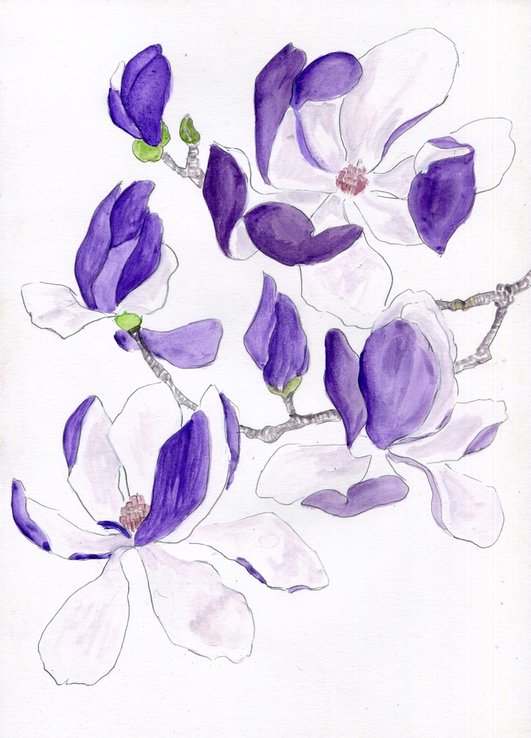 Branching Watercolor Gouache Br - havekat | ello