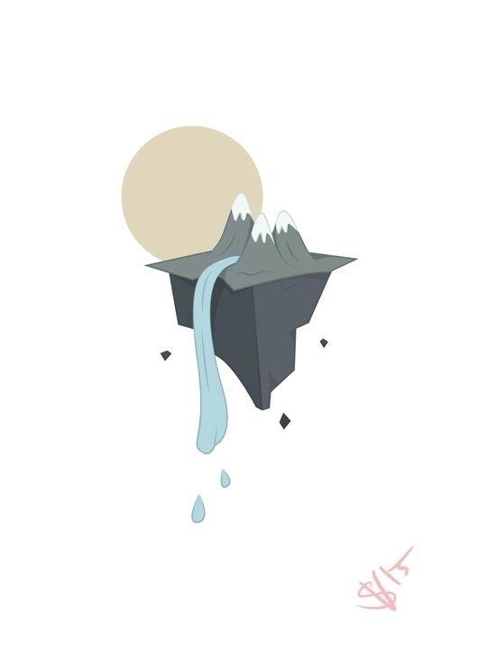 floating mountain island create - svaeth | ello