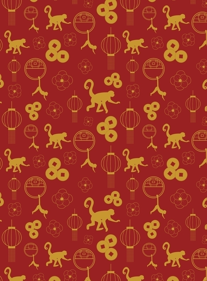 Chinese year; year monkey theme - svaeth | ello
