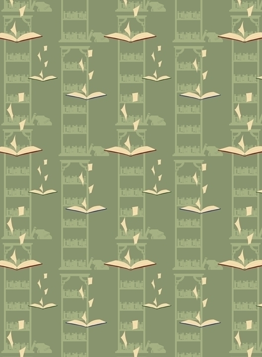 library themed pattern - books, pages - svaeth | ello