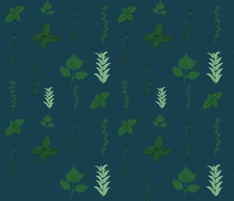 herb garden themed pattern - pen - svaeth | ello