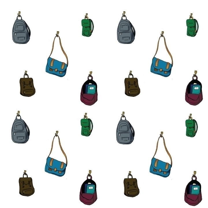 backpack themed pattern - backpacks - svaeth | ello
