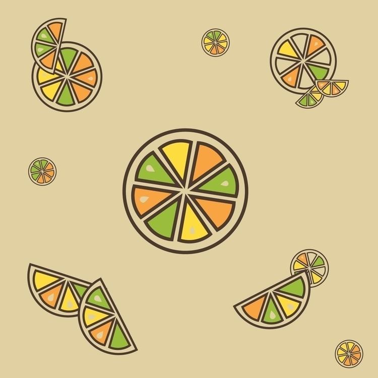 citrus themed pattern - orange, lime - svaeth | ello