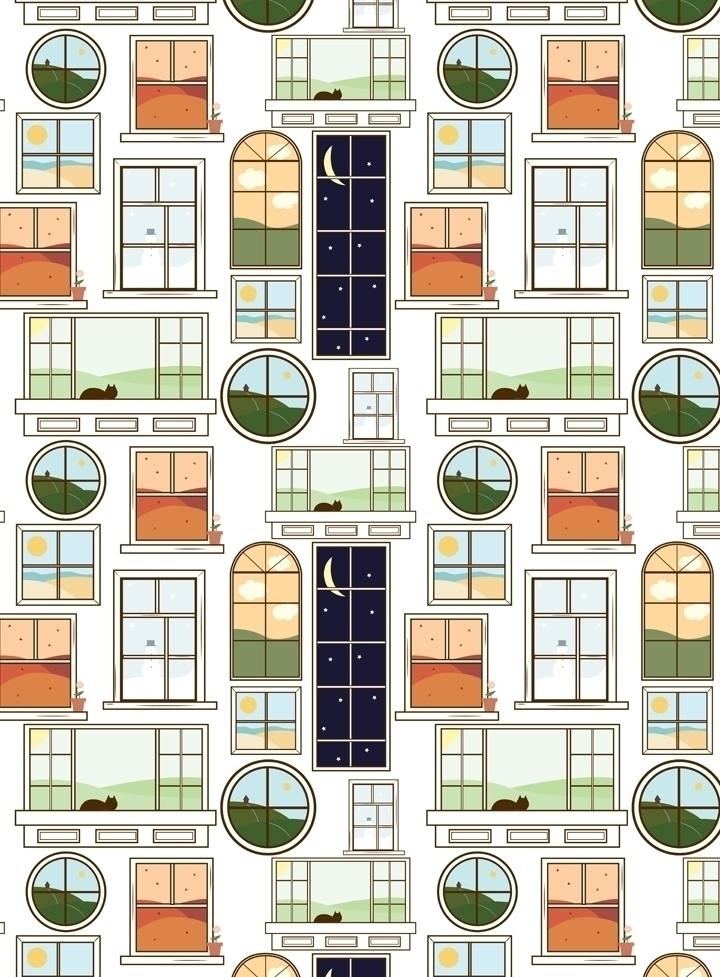 windows inspired pattern design - svaeth | ello