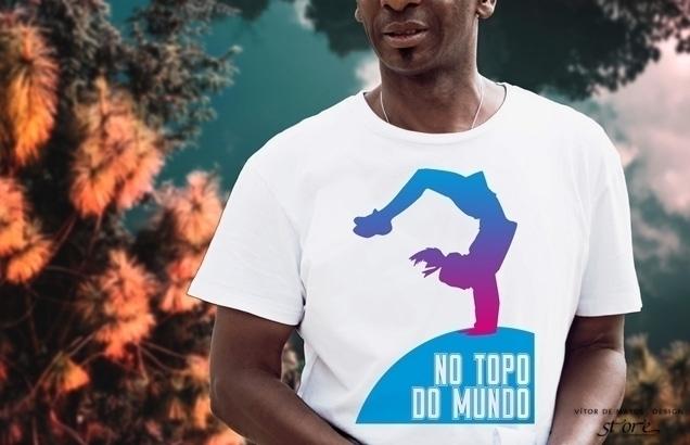 No Topo Do Mundo⠐ Tshirt Men by Vítor de Mato