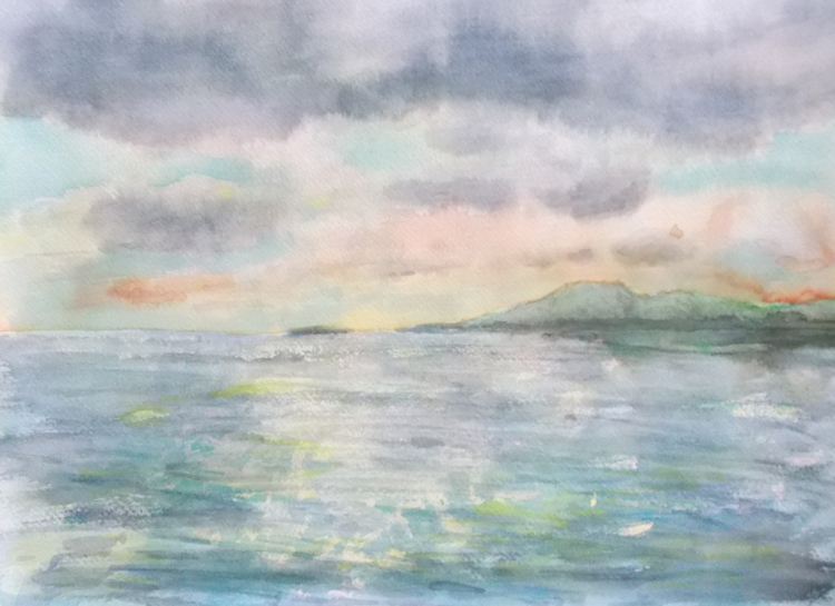 Seascape study Watercolour - euric | ello