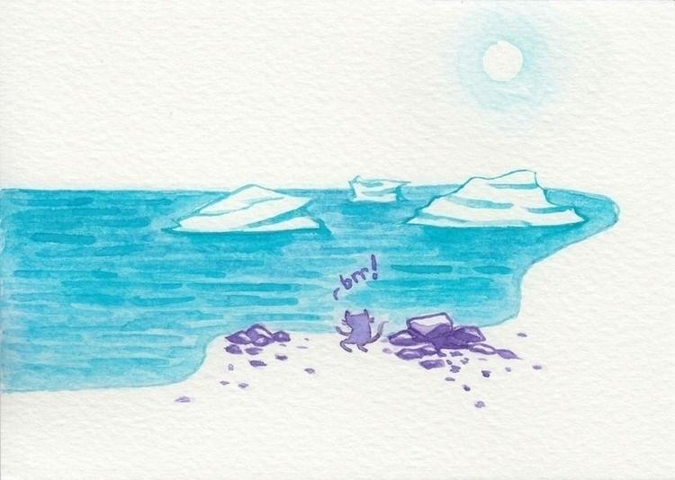 salty, told - watercolour, illustration - catsac | ello