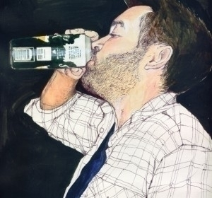 Portrait ballpoint acrylic - helencann | ello