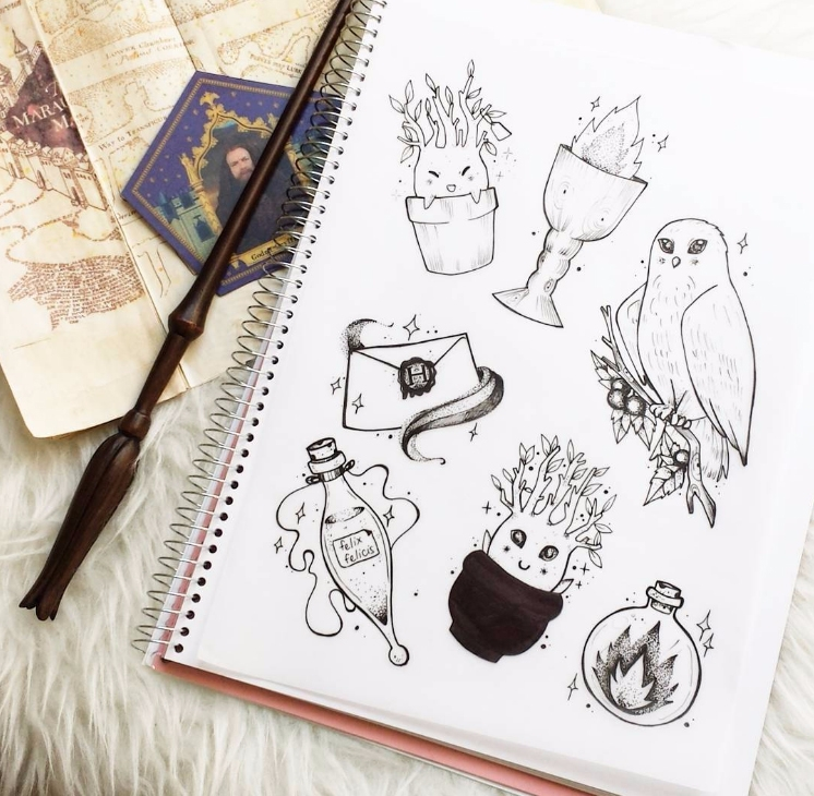 Harry Potter flash tattoos ☽✦ - harrypotter - charleenplum | ello