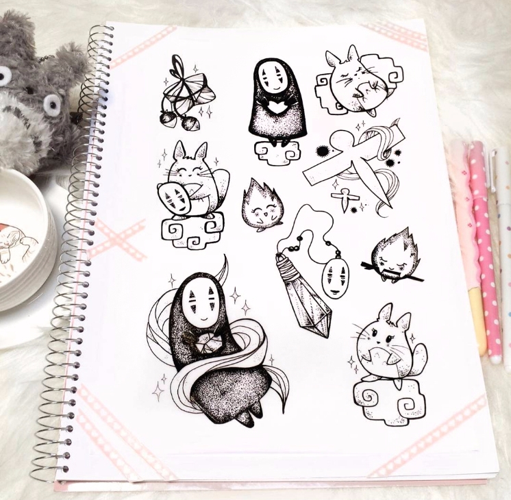 Ghibli time ❧ - totoro, kaonashi - charleenplum | ello
