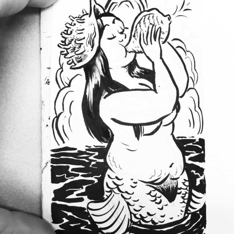 Toot toot - mermay, mermaid, ink - royallyeric | ello