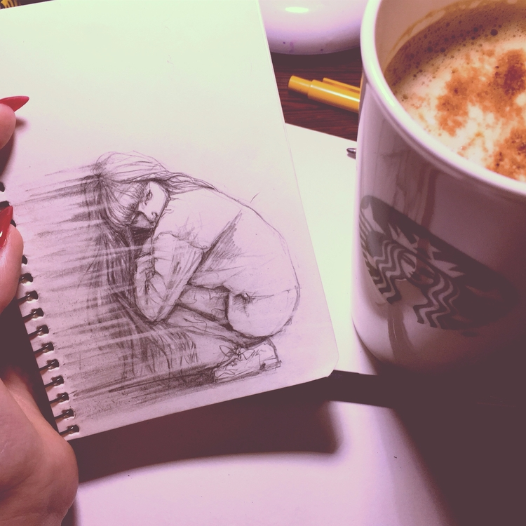 Dreaming - inked, fashionillustration - doriana-1363 | ello