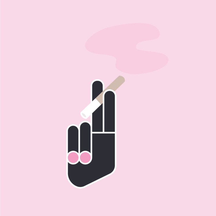 Smoking bad, cool - nootenboom | ello