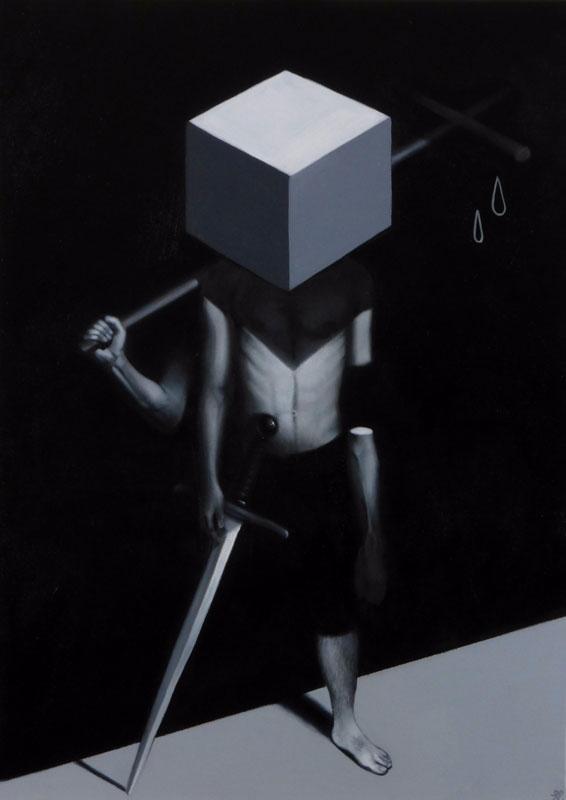 White Knight' Oils canvas white - stevelawsonart | ello