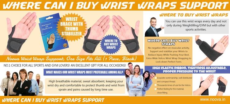Wrist Wraps brace works utilizi - kneesupportrunning | ello