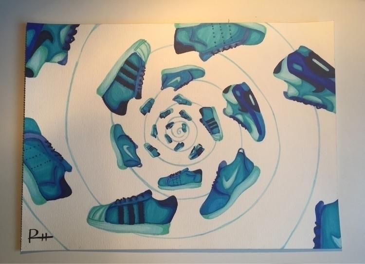 job class - art, copic, blue, shoes - elenareyna | ello