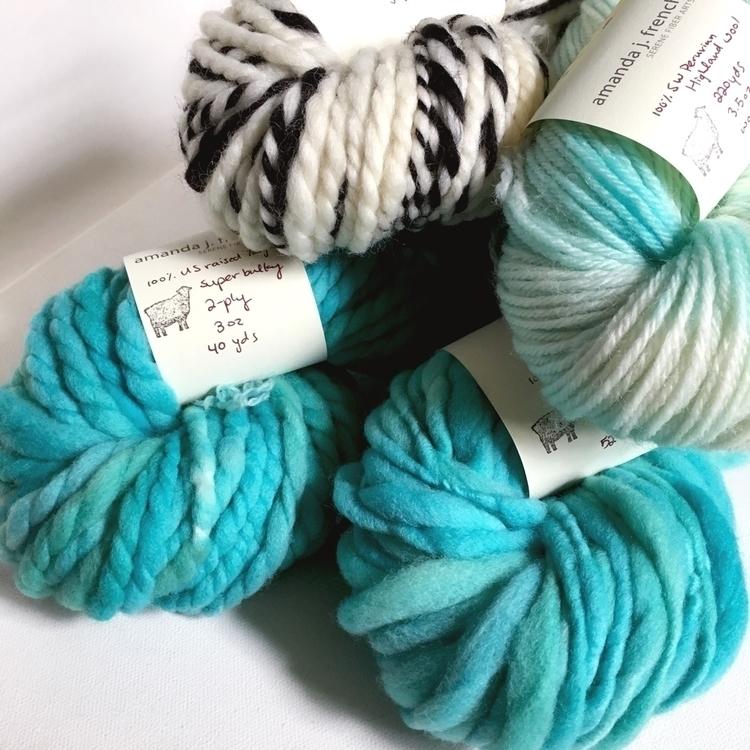 Textures aqua 🖤 - handspun, yarn - amandajfrench | ello