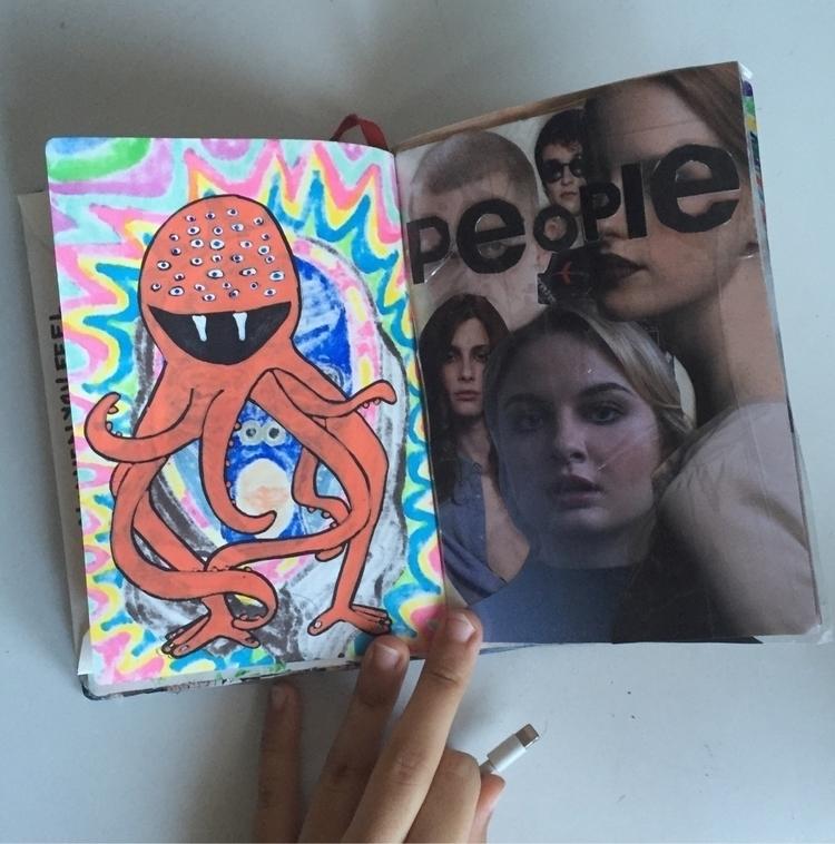 2017 mini book - art, colllage, monster - elenareyna | ello