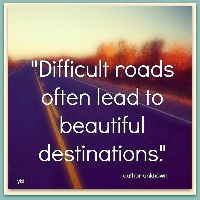 Difficult roads lead beautiful  - esquirephotography   ello