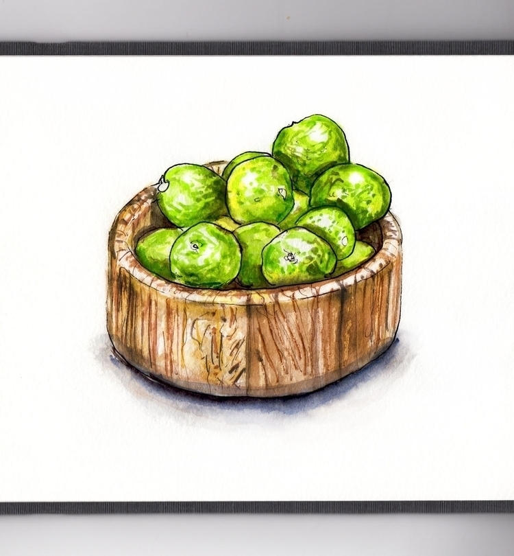 Life Limes - watercolor, watercolour - doodlewash | ello