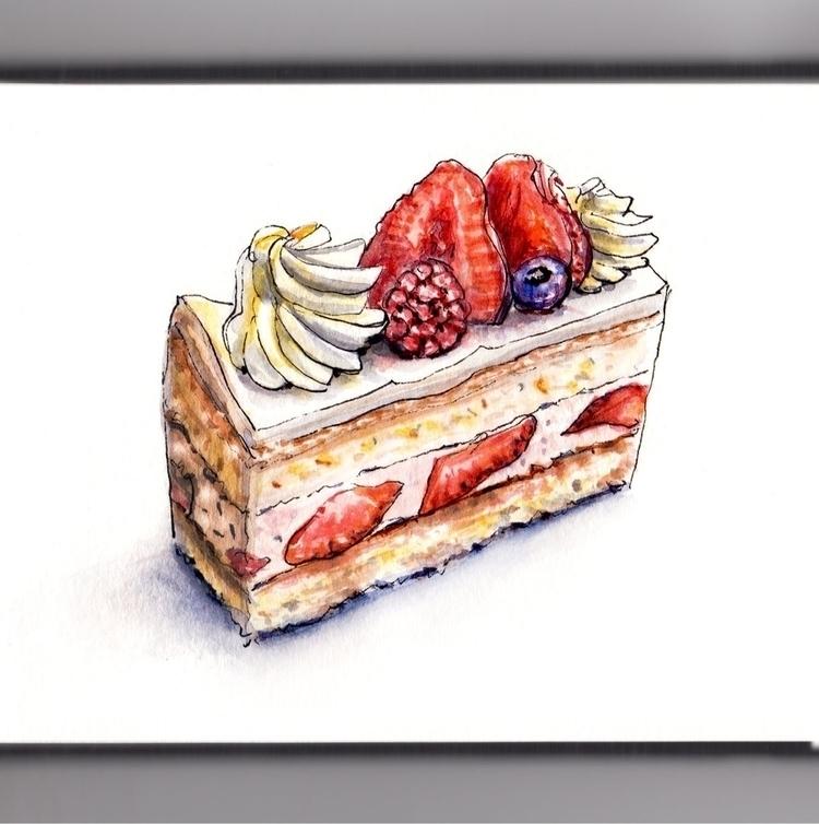 Bit Spongy - watercolor, watercolour - doodlewash | ello