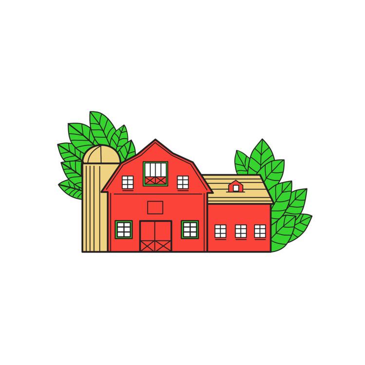 Mono Line - Vintage, American, Barn - patrimonio | ello