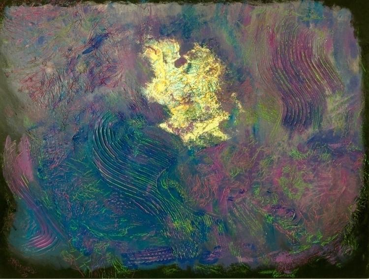 Moon Landing 36x48 canvas - acrylic - nathan0062 | ello