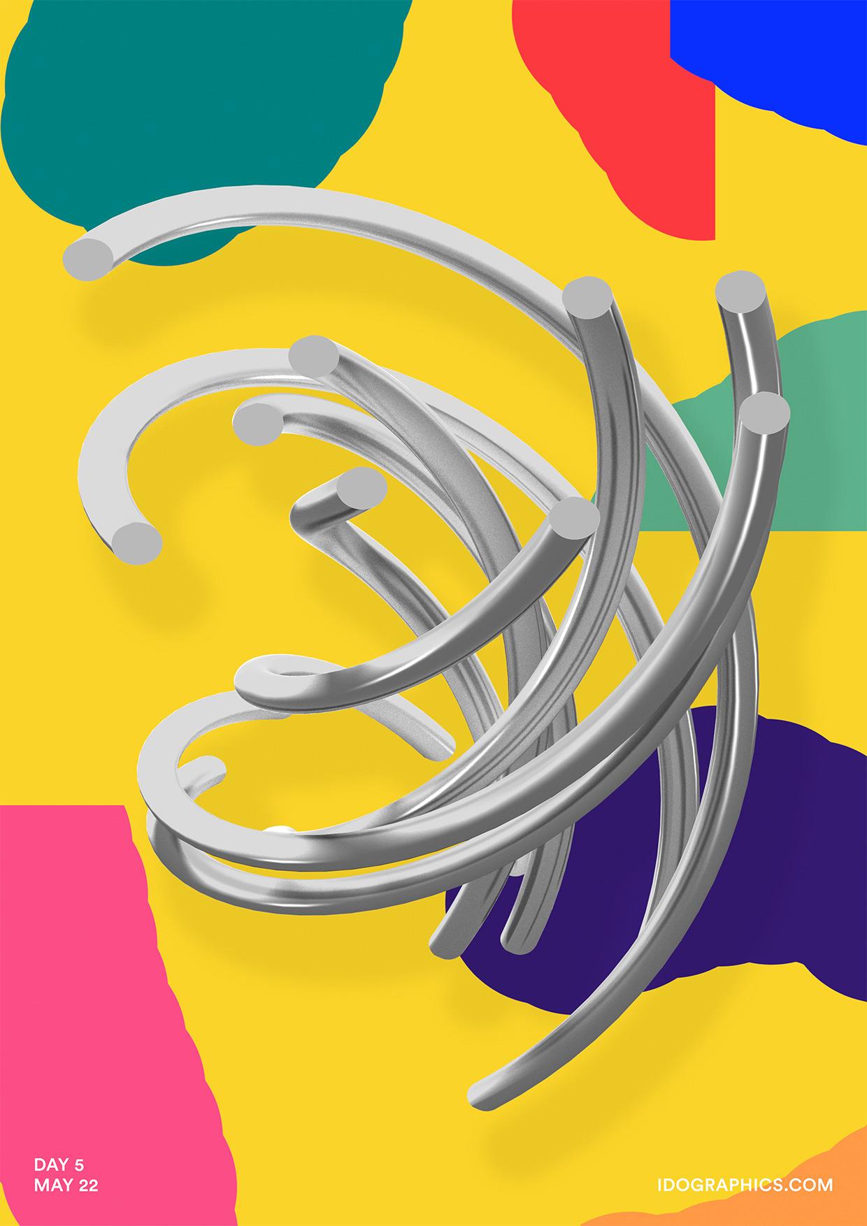 design, art, poster, color, 365 - idographics   ello