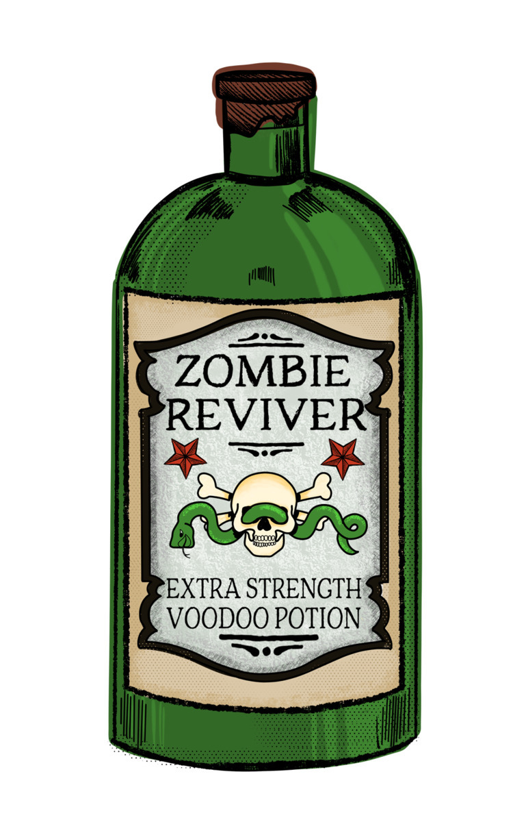 ZOMBIE REVIVER - tough day - zombie - littlebunnysunshine | ello