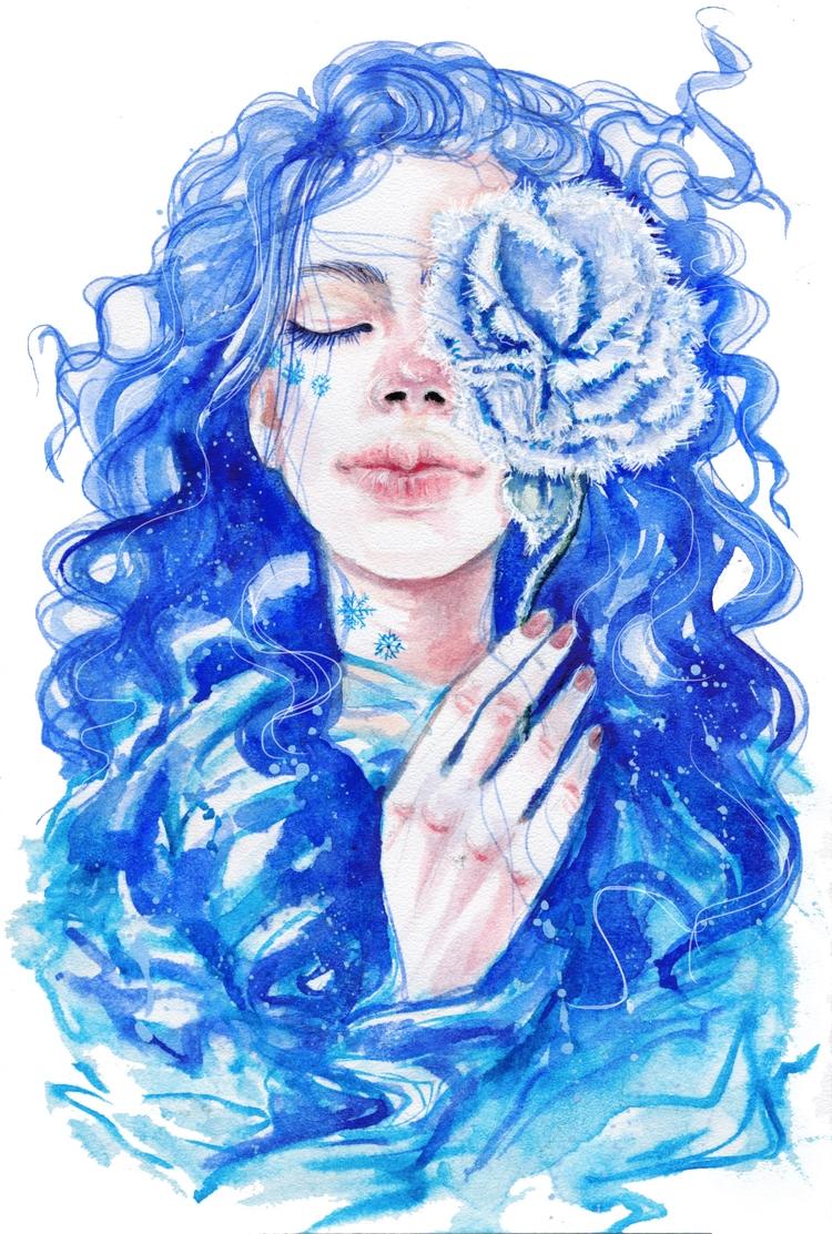 +Frozen+ - fashionillustration, fashion - ibreathart | ello