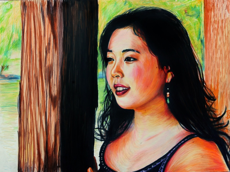 Karisa (colored pencil drawing - skyler_brown_portraits | ello