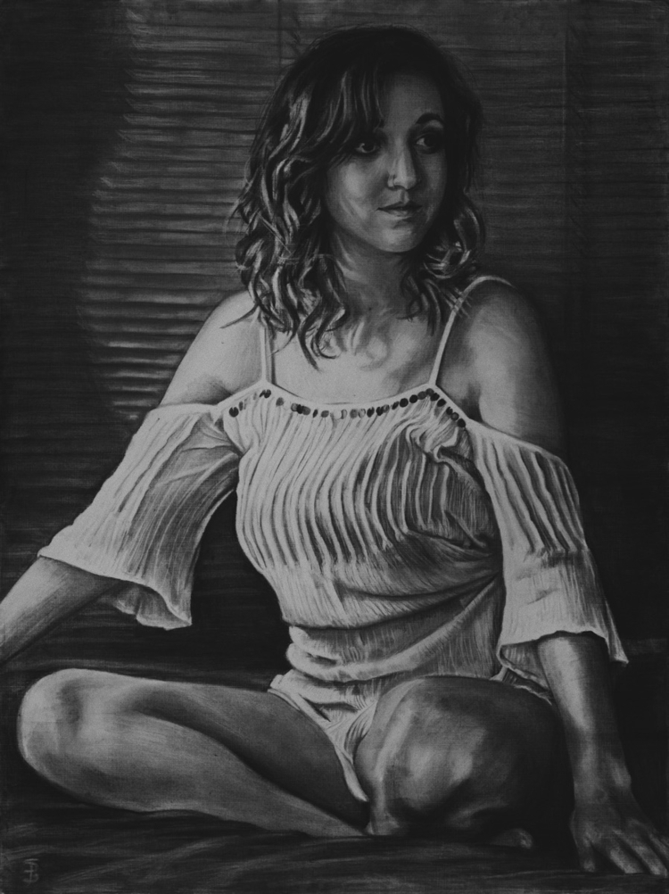Jessica (charcoal drawing) Skyl - skyler_brown_portraits | ello