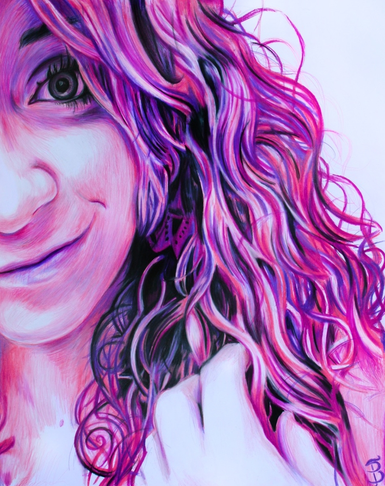Tess (colored pencil drawing) S - skyler_brown_portraits | ello