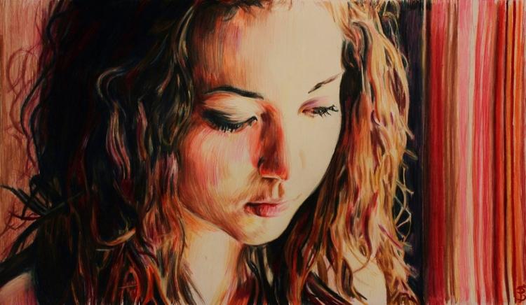 Amy (colored pencil drawing) Sk - skyler_brown_portraits | ello