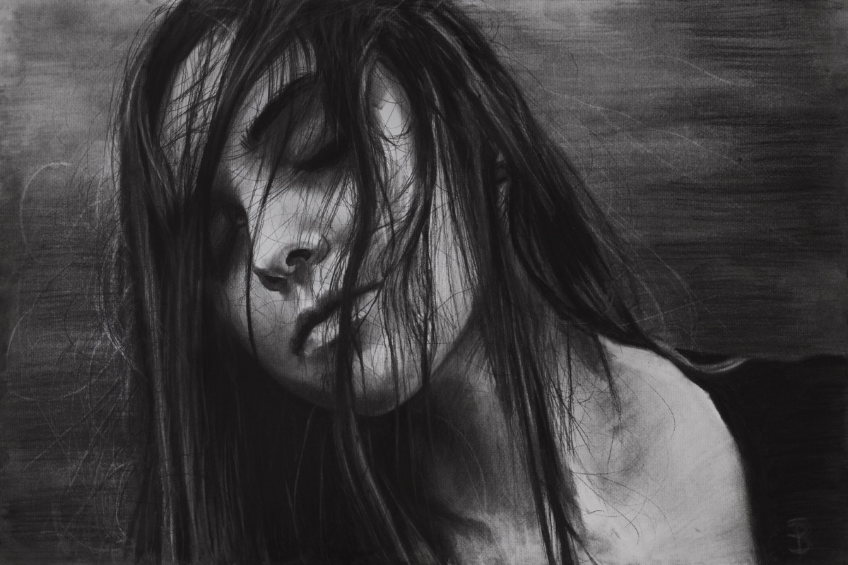 Sleep III (charcoal drawing) Sk - skyler_brown_portraits | ello