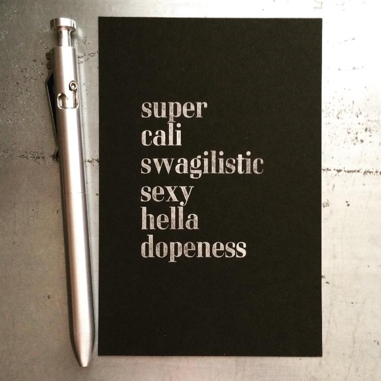 super   metal - letterpress, type - sheasmith   ello