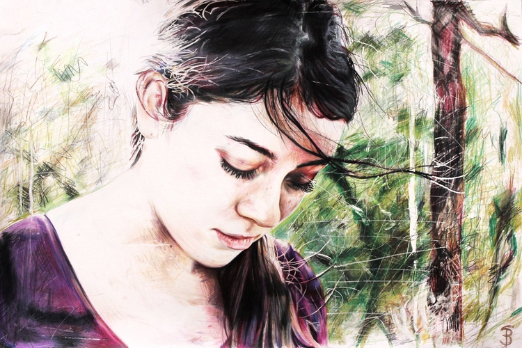 Light (colored pencil drawing)  - skyler_brown_portraits | ello
