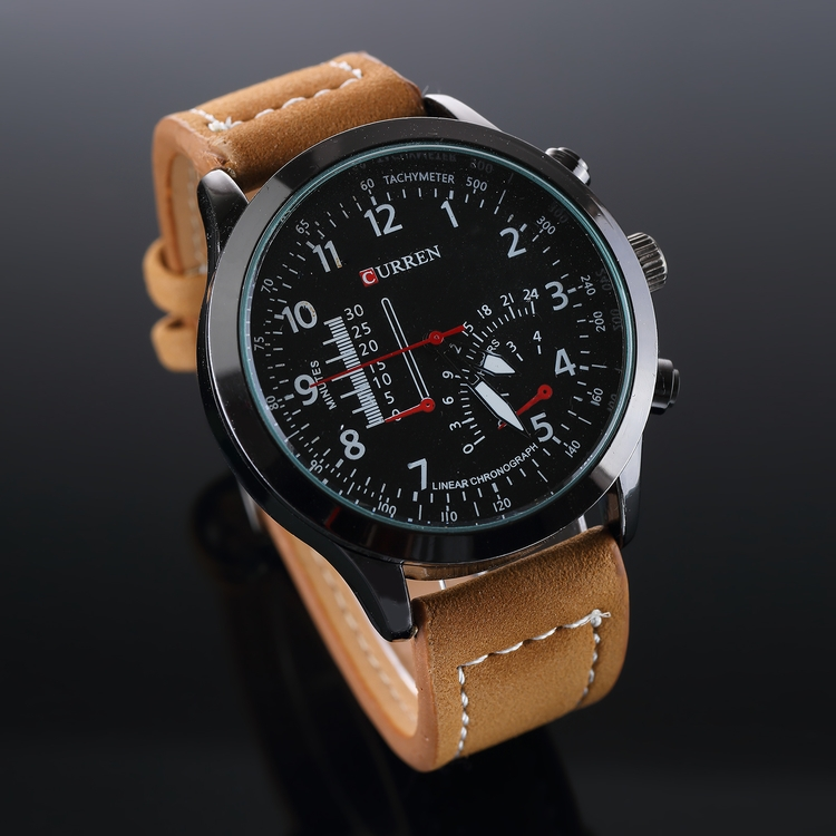 Stylish Curren Leather Watch Up - latestonecom | ello