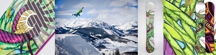 themed snowboard designed Sims  - laurakottlowski | ello