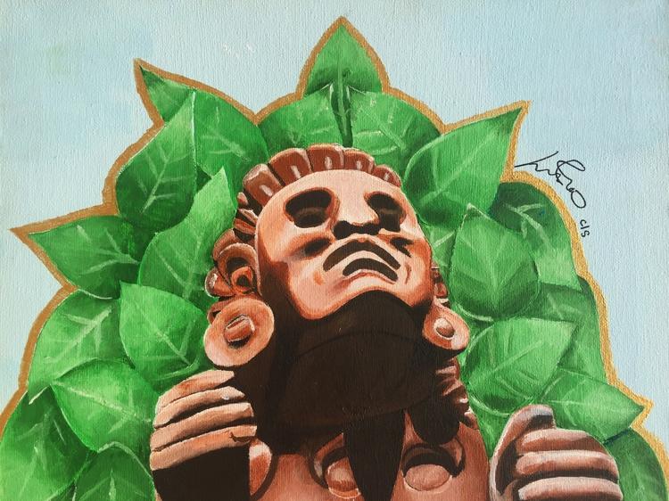 Xochipilli acrylic canvas 11x17 - lordlili | ello