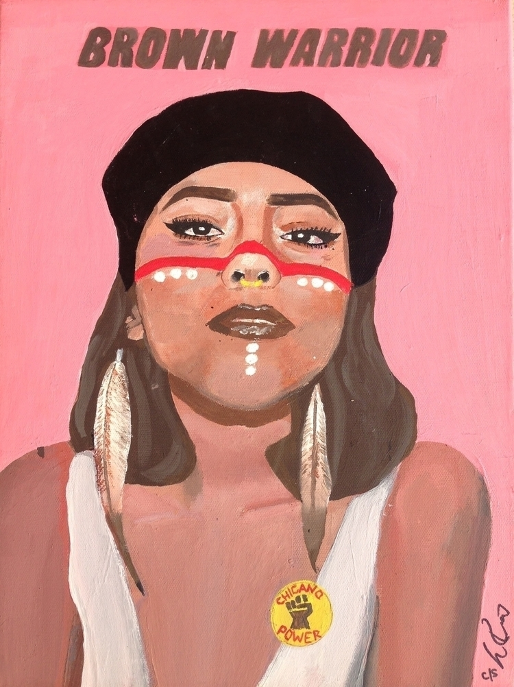 Brown Warrior 11x17 acrylic can - lordlili | ello