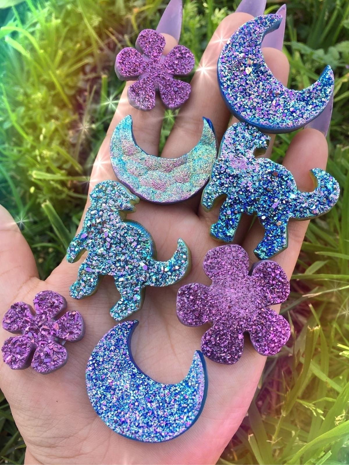 Aura druzzy shapes - crystals, auracrystals - prismsouls | ello