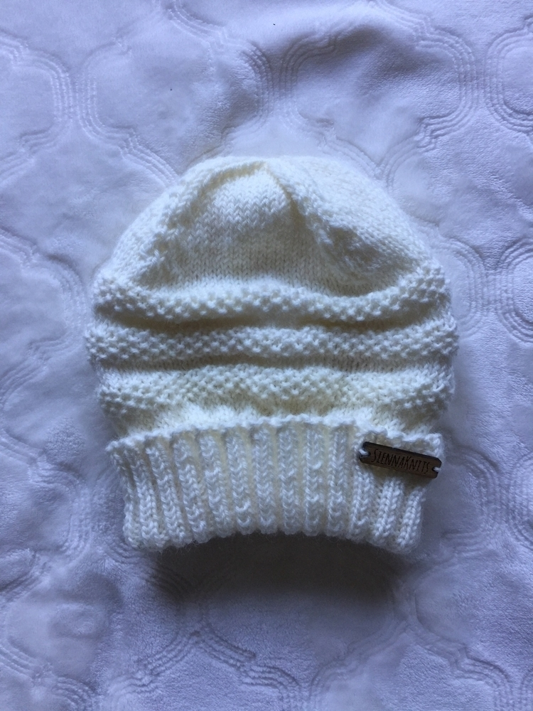 White wool beanie, white wear,  - siennaknits | ello